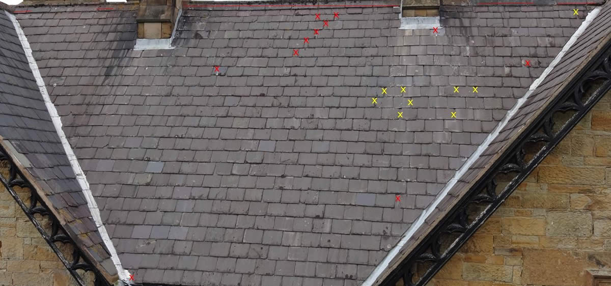 Condition Survey on a sloping roof - Nicholson Price Associates